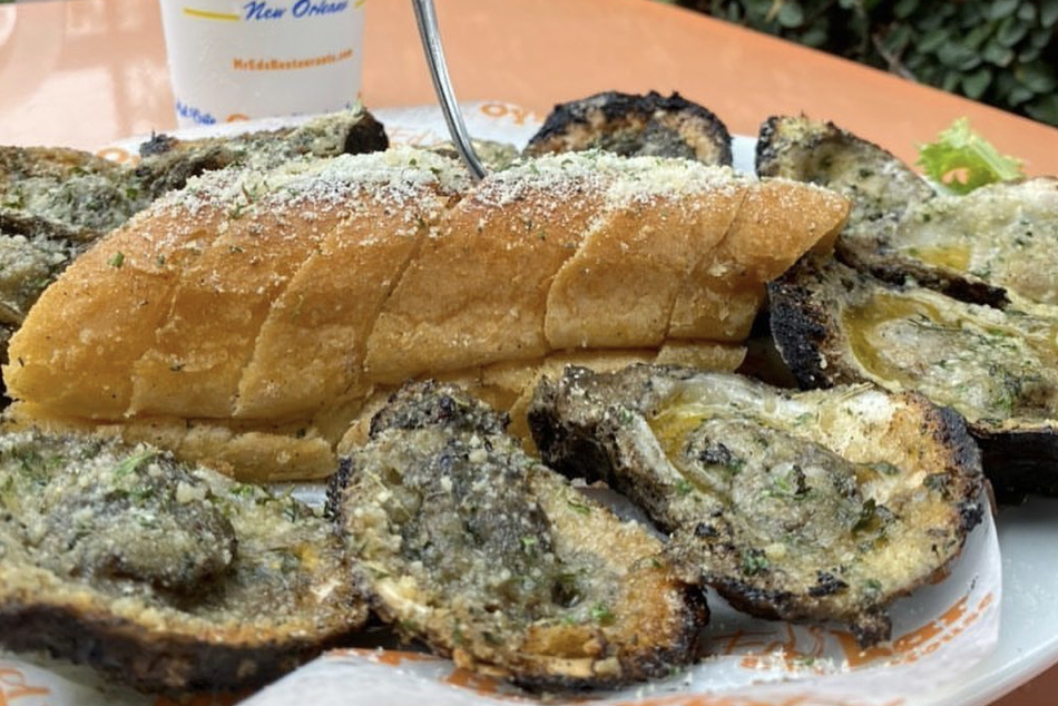 Mr. Ed's Oyster Bar and Fish House chargrilled oysters