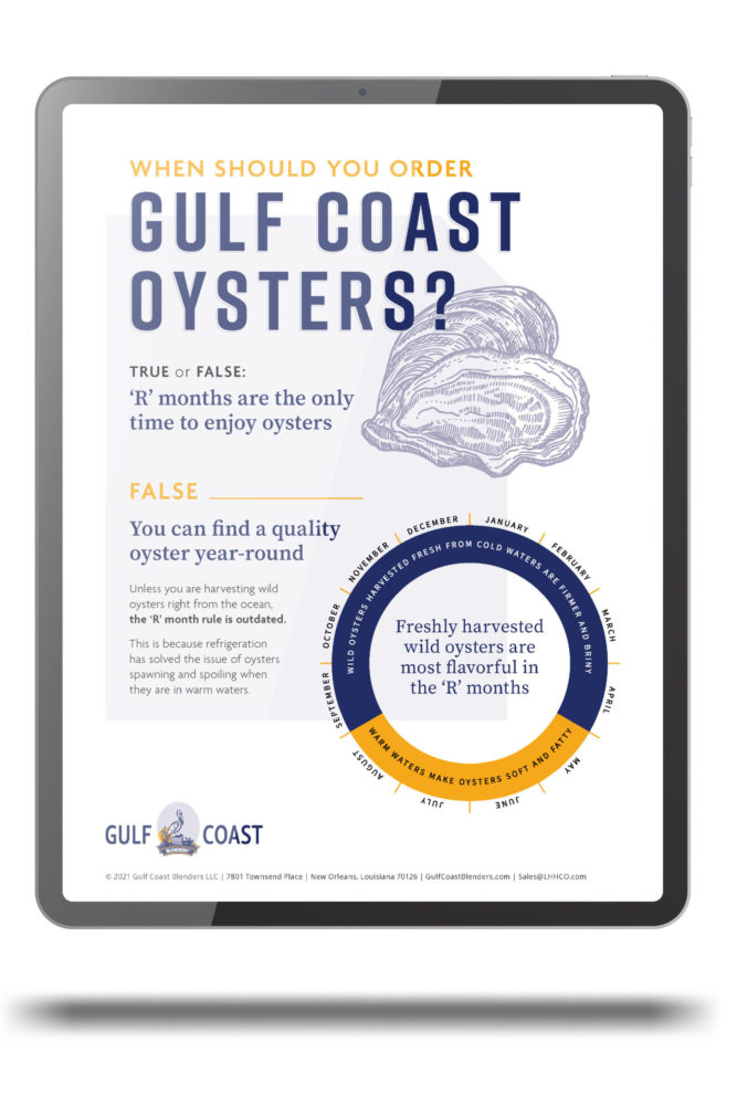 When to order gulf oysters